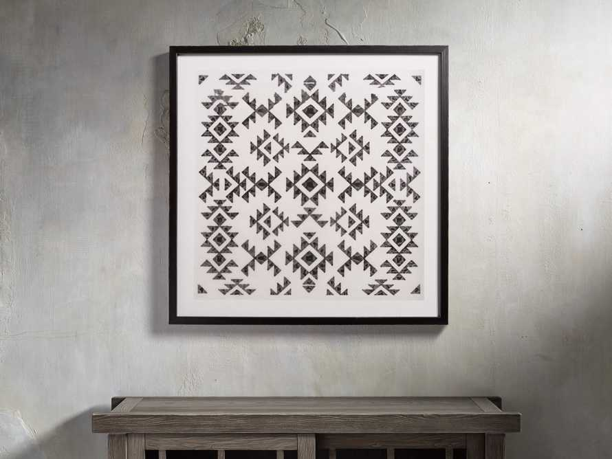 "Ink Stain 21"" Framed Print"