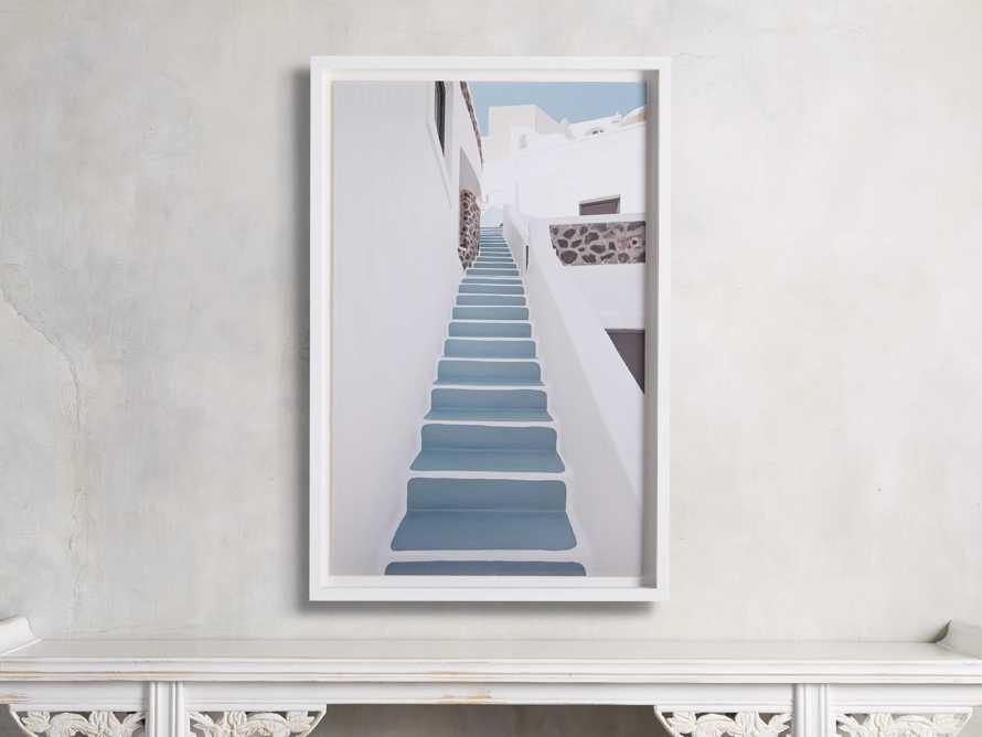 Blue Stairway Framed Print, slide 1 of 4