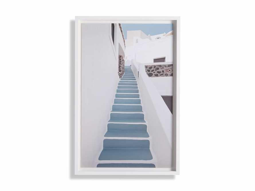 Blue Stairway Framed Print, slide 3 of 4