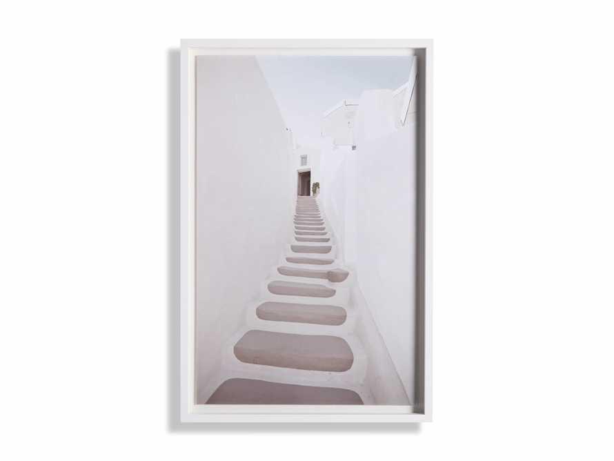 Pink Stairway Framed Print