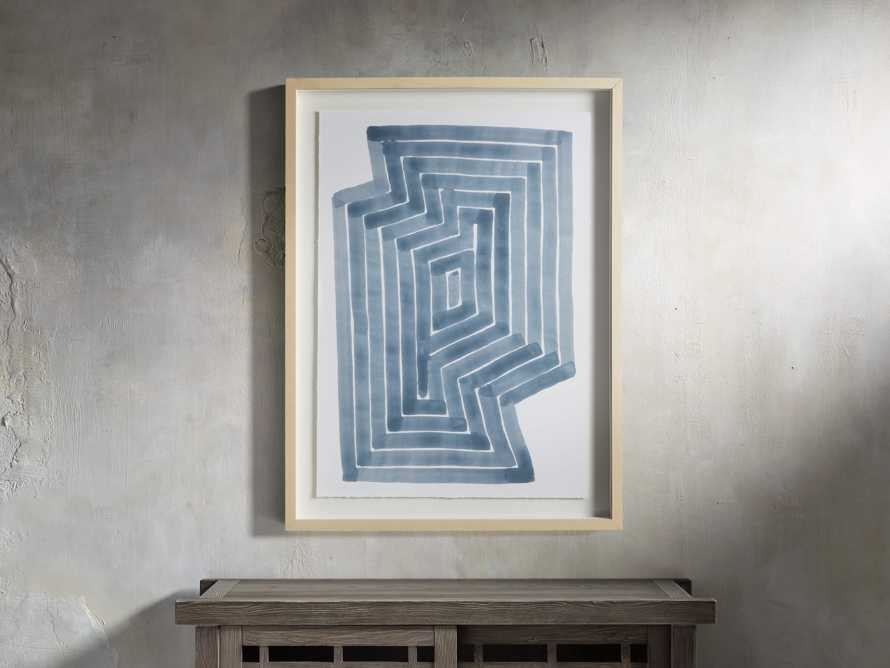 Linee Blu Framed Print I, slide 1 of 5