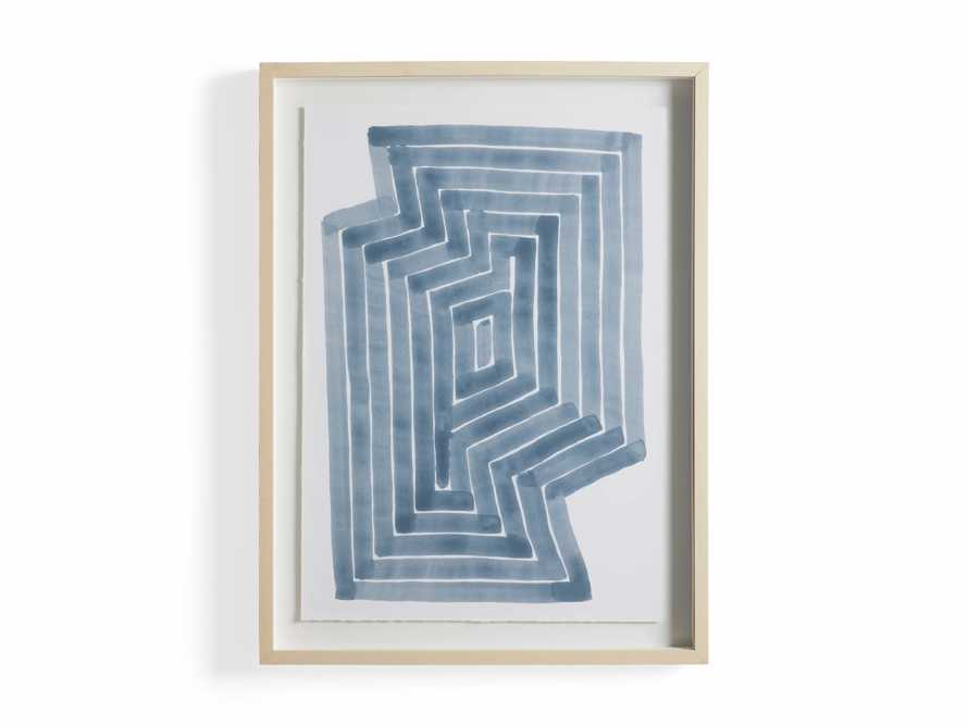 Linee Blu Framed Print I, slide 5 of 5