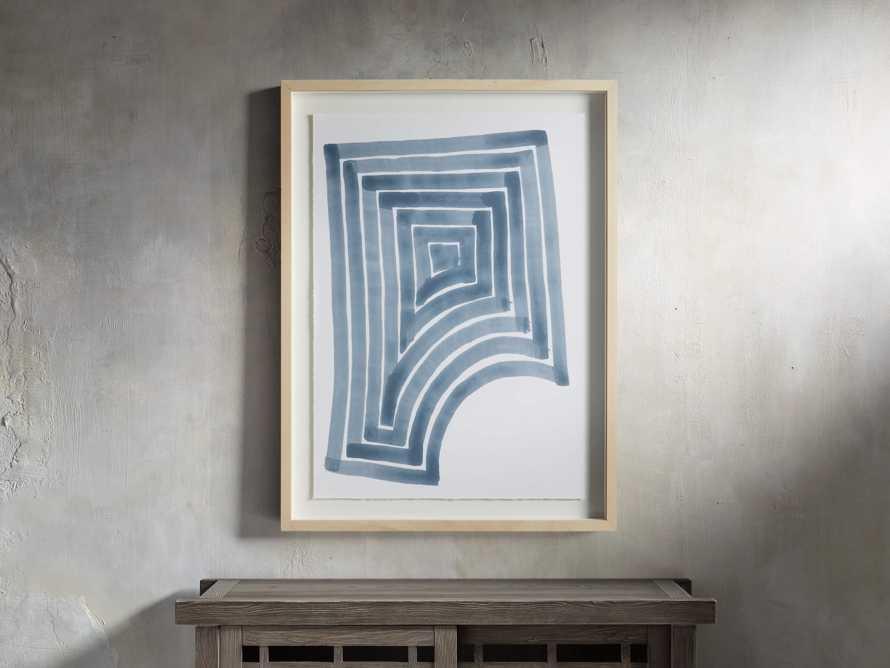 Linee Blu Framed Print II, slide 1 of 5