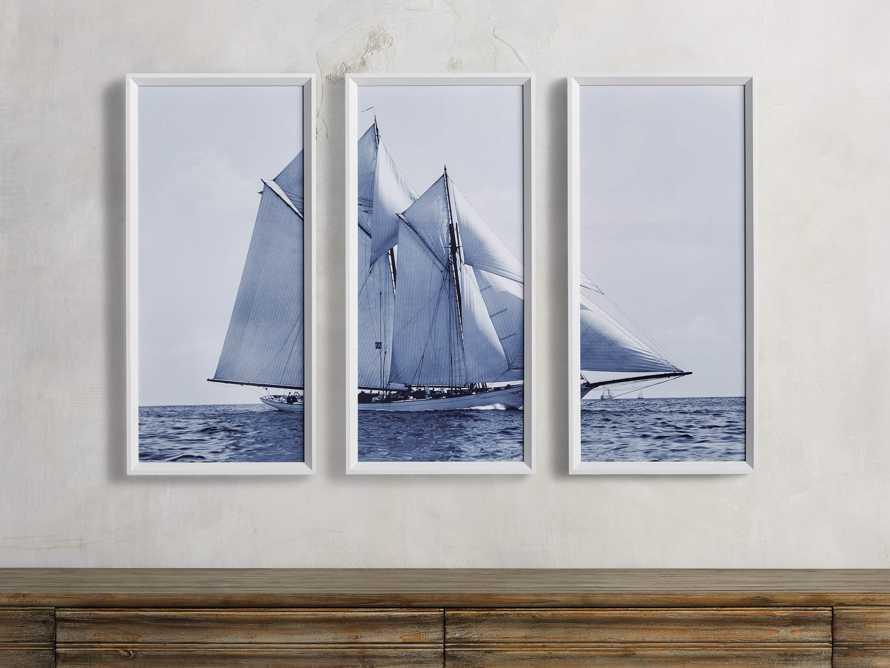 Blue Sails Triptych I Print, slide 3 of 5