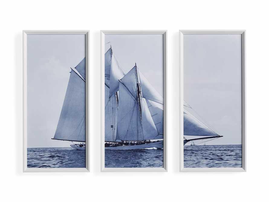 Blue Sails Triptych II Print, slide 5 of 5