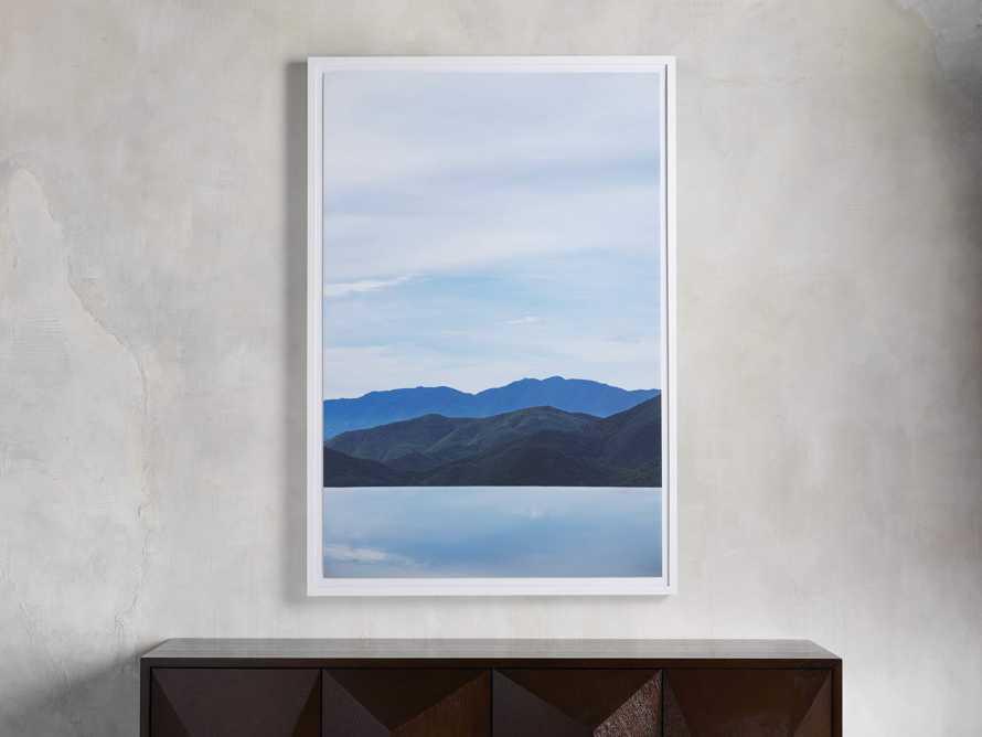 Mountain Views Blue Framed Print, slide 1 of 4