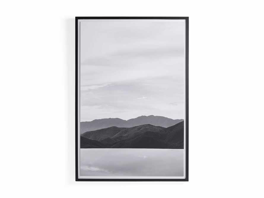Mountain Views Black & White Framed Print, slide 3 of 3