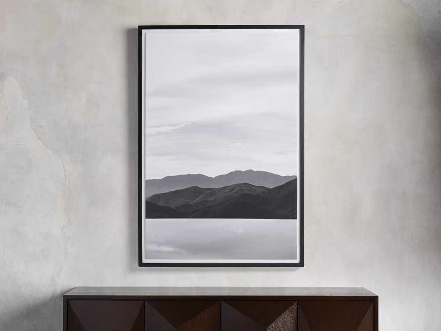 Mountain Views Black & White Framed Print, slide 1 of 3