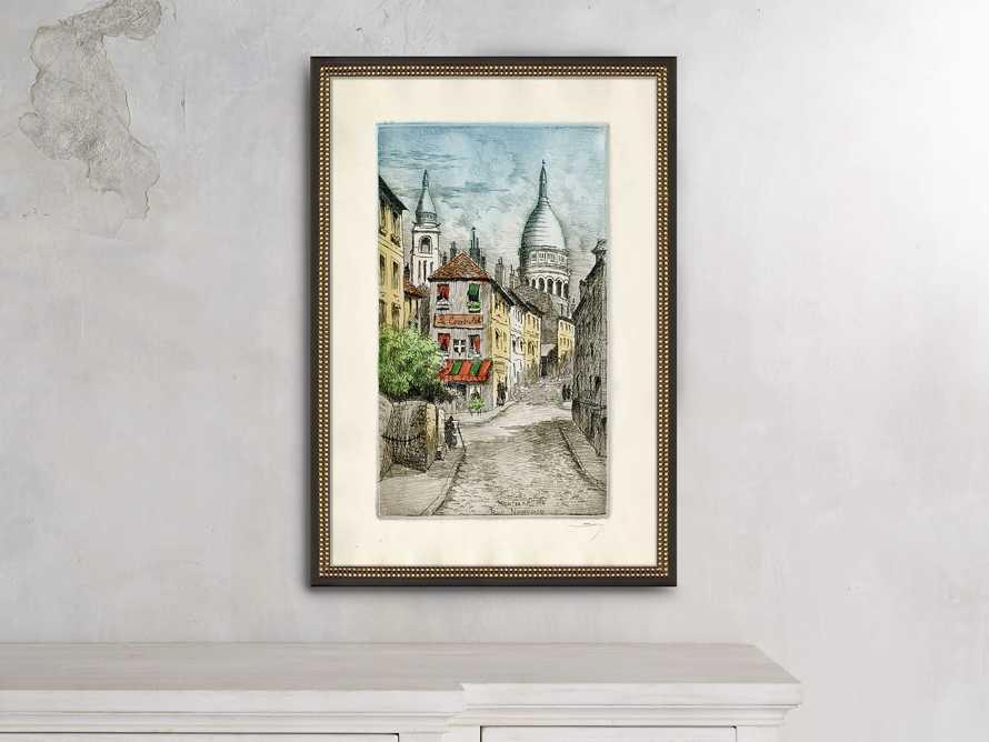 Montmarte Rue Noryins Framed Print, slide 1 of 2