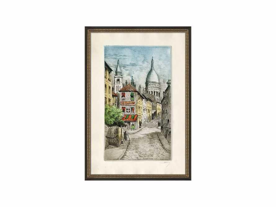 Montmarte Rue Noryins Framed Print