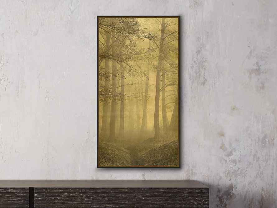 "Gold Leaf Forest 32"" X 18"" Print 2"
