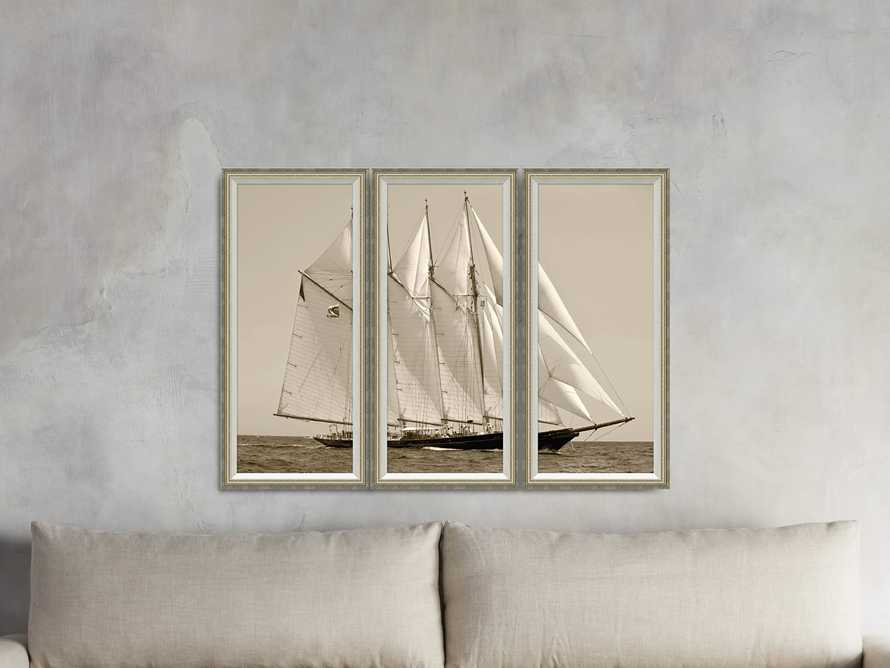 "Yacht Framed Print 14"" X 30"" Triptych, slide 2 of 3"