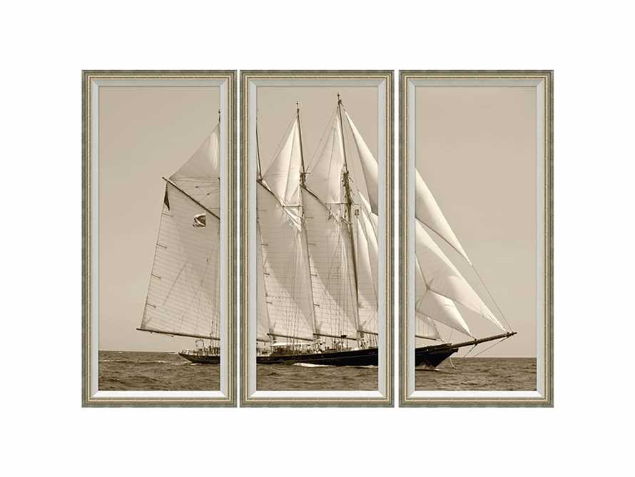 "Yacht Framed Print 14"" X 30"" Triptych, slide 3 of 3"