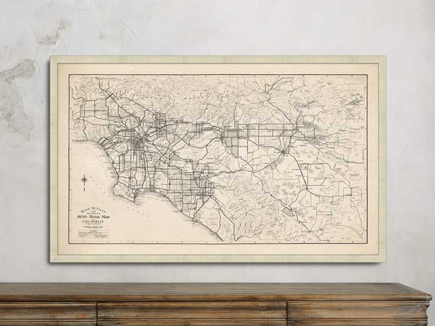 "Los Angeles 52"" X 32"" Map"
