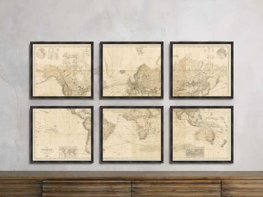 Gallery Map Print (Set of 6), slide 1 of 2