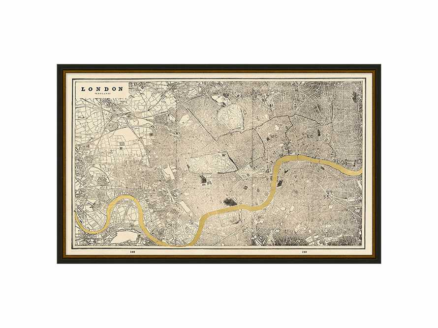 "London Gold Leaf 37"" X 25"" Map"
