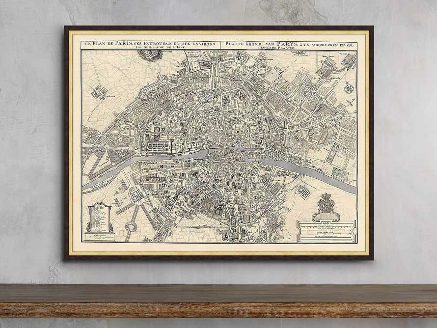 "Silver Leaf Paris Map - 27.5"" X 20.5"", slide 1 of 2"