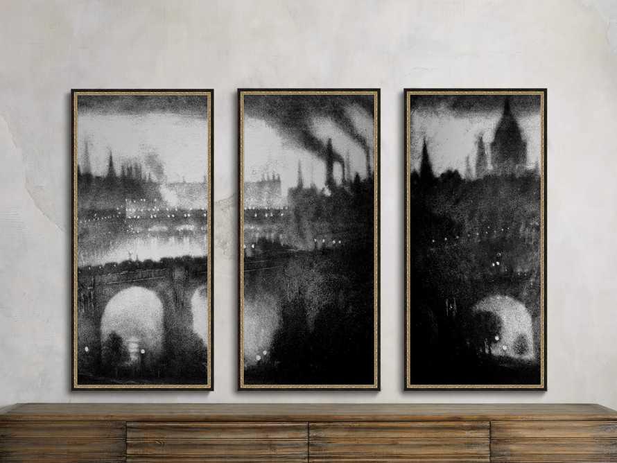 "Silver Leaf Cityscape 23"" x 48"" Print 1"