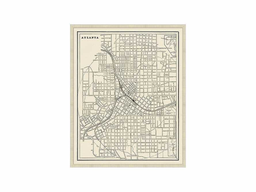 "Atlanta Map 26"" X 32"" Framed Print"