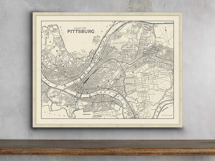 "Pittsburgh Map 32"" X 24"" Framed Print"