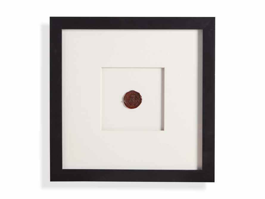 Framed Wax Seal I, slide 4 of 4