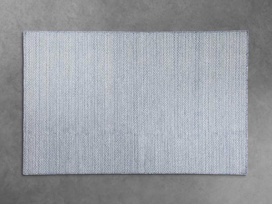5x8 Kiawah Flatweave Blue Rug, slide 1 of 2