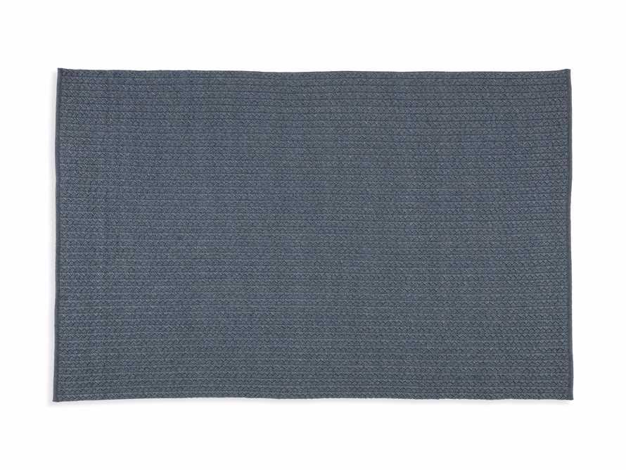 4' x 6' Manor Navy Outdoor Rug, slide 3 of 4