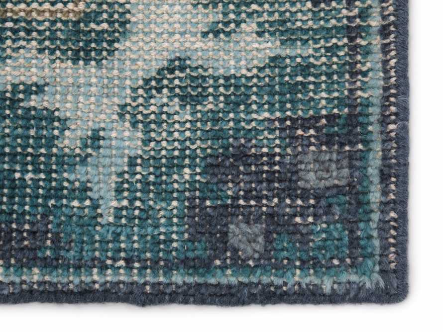 5x8 Saybrook Hand-Knotted Teal Rug, slide 2 of 2