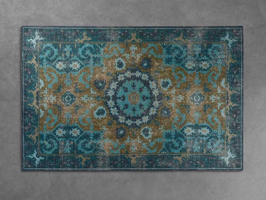 5x8 Saybrook Hand-Knotted Teal Rug, slide 1 of 2