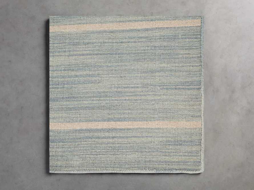 18X18 Tybee Flatweave Rug Swatch in Blue/Grey, slide 1 of 1