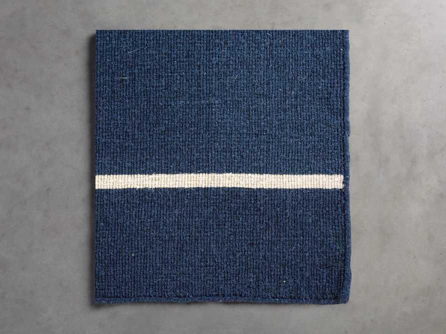 18X18 Tybee Flatweave Rug Swatch in Dark Blue, slide 1 of 1