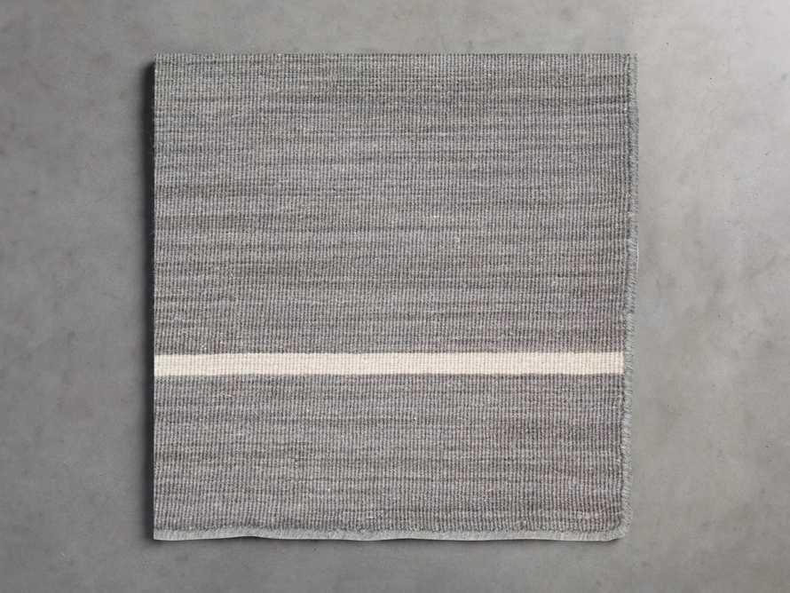 18X18 Tybee Flatweave Rug Swatch in Grey, slide 1 of 1