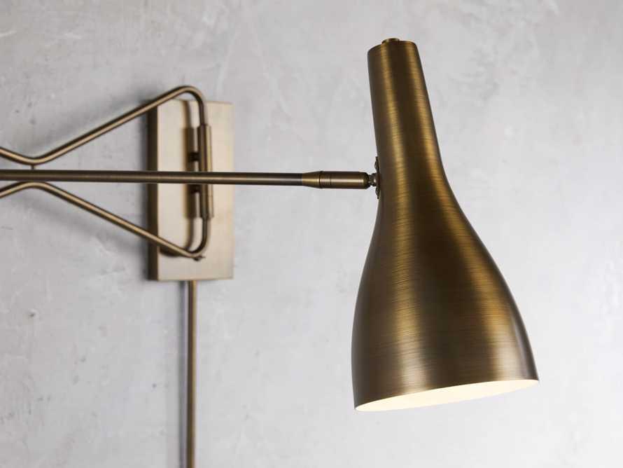 Aldrich Swing-Arm Brass Wall Sconce, slide 2 of 3