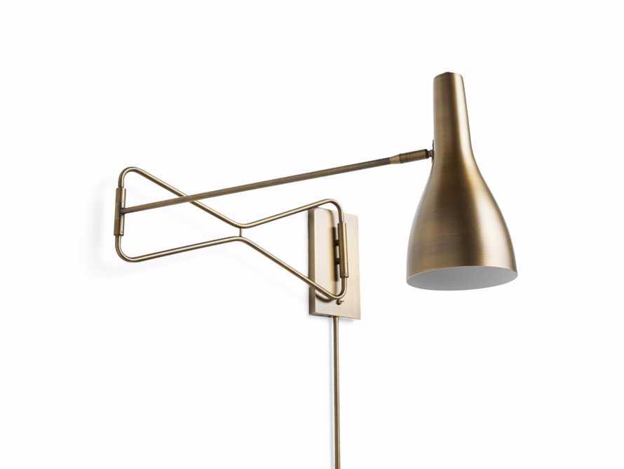 Aldrich Swing-Arm Brass Wall Sconce, slide 3 of 3