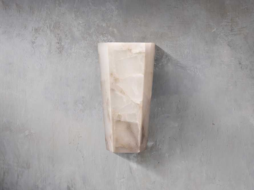 Alabaster Hexagonal Large Sconce, slide 1 of 2
