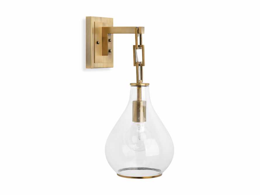 Lowell Sconce in Antique Brass, slide 5 of 6