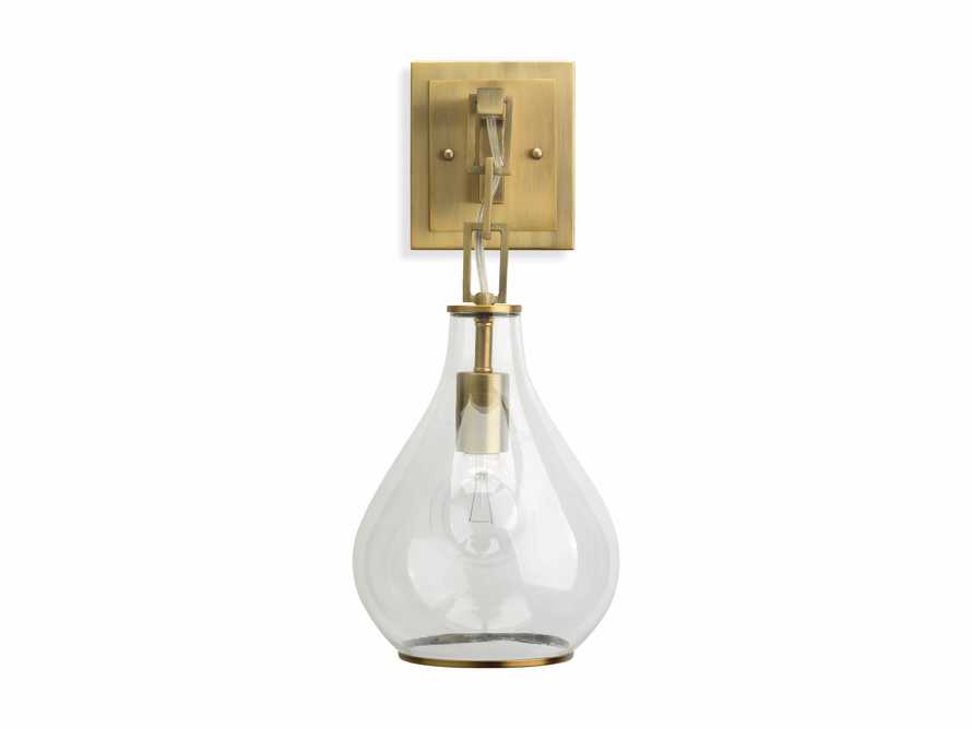 Lowell Sconce in Antique Brass, slide 6 of 6