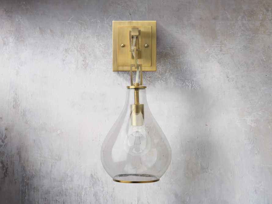 Lowell Sconce in Antique Brass, slide 2 of 6