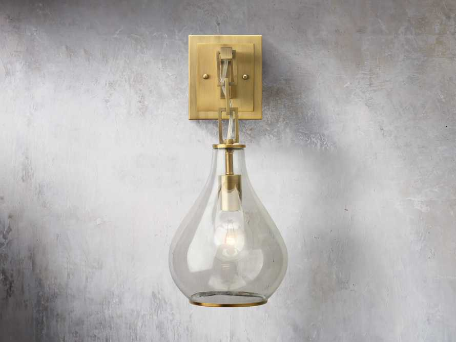 Lowell Sconce in Antique Brass, slide 1 of 6