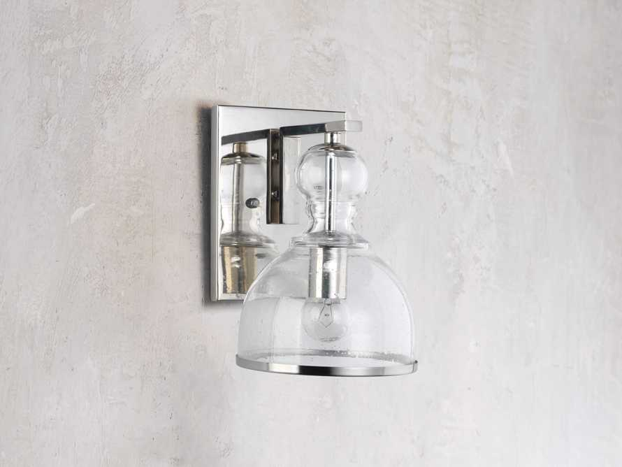 Safford Nickel Small Sconce, slide 2 of 6