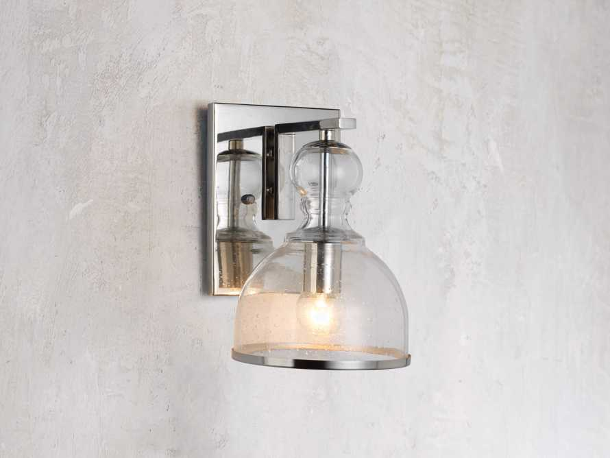 Safford Nickel Small Sconce, slide 1 of 6