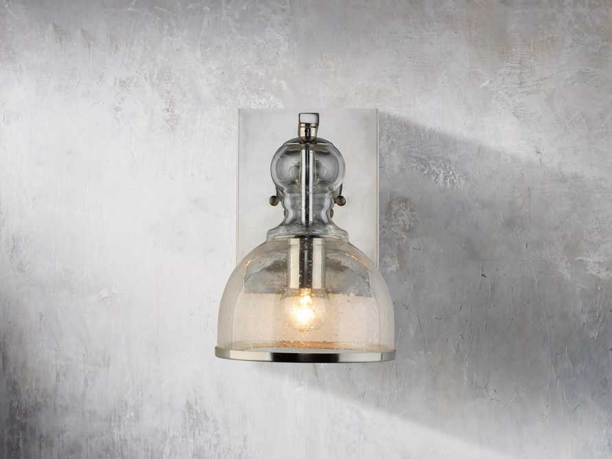 Safford Nickel Small Sconce, slide 3 of 6