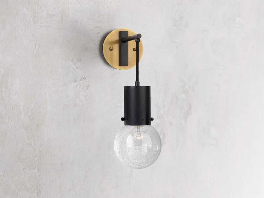 Talus Sconce in Oiled Bronze, slide 1 of 3