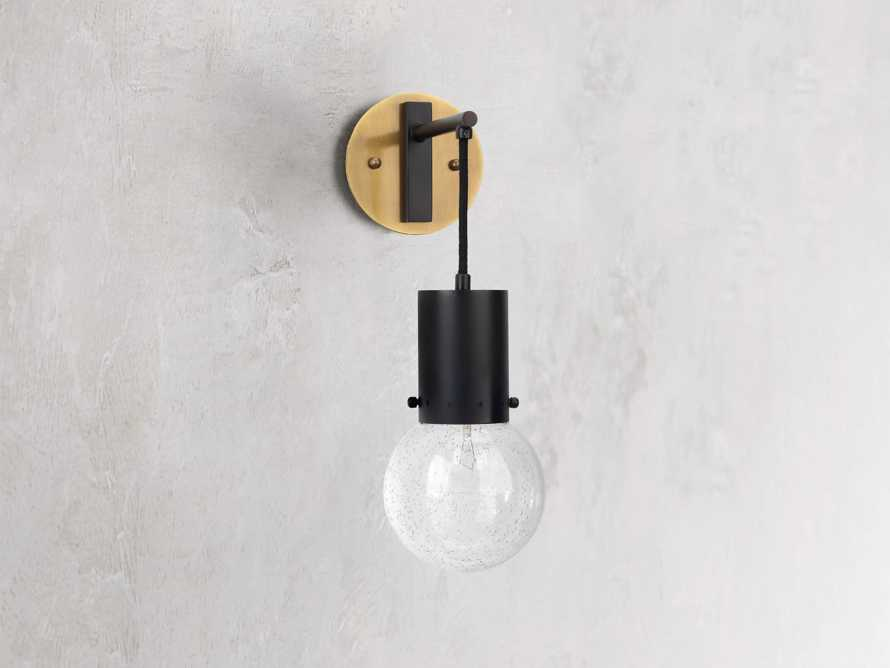 Talus Sconce in Oiled Bronze, slide 2 of 3