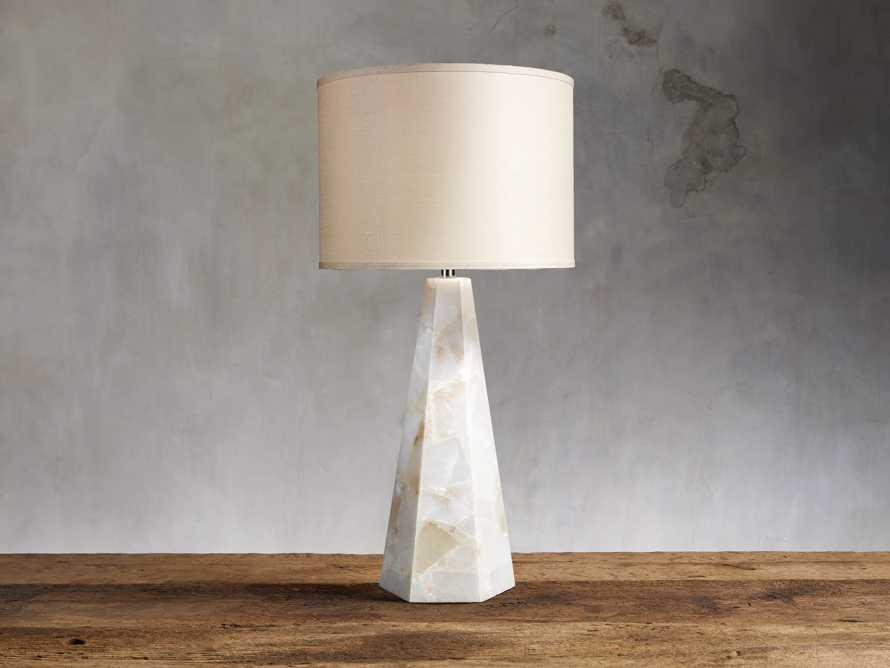 Alabaster Hexagonal Table Lamp, slide 1 of 2