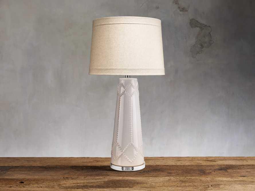 Jordiana Table Lamp in Ivory, slide 1 of 2