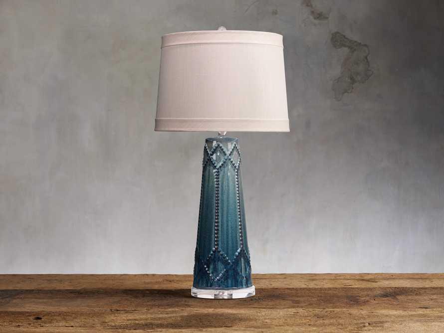 Jordiana Table Lamp in Teal, slide 1 of 2