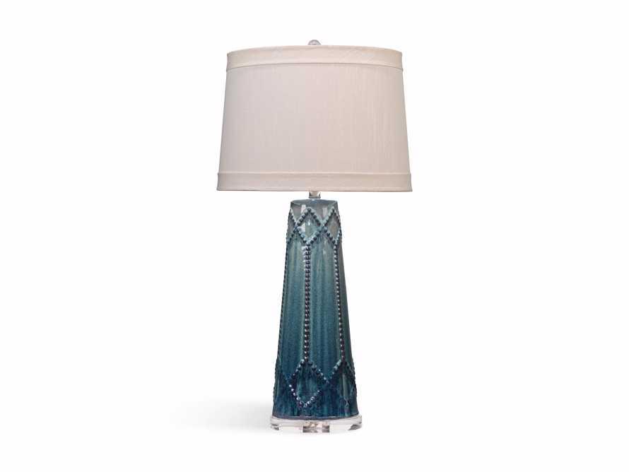 Jordiana Table Lamp in Teal, slide 2 of 2