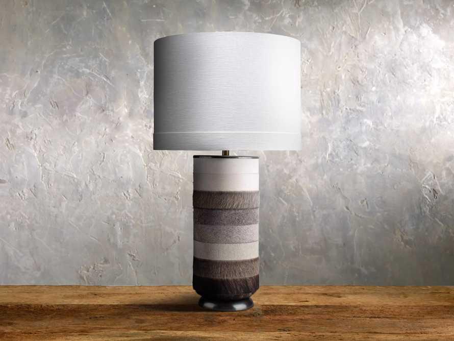 Pratt Striped Hide Table Lamp, slide 1 of 1
