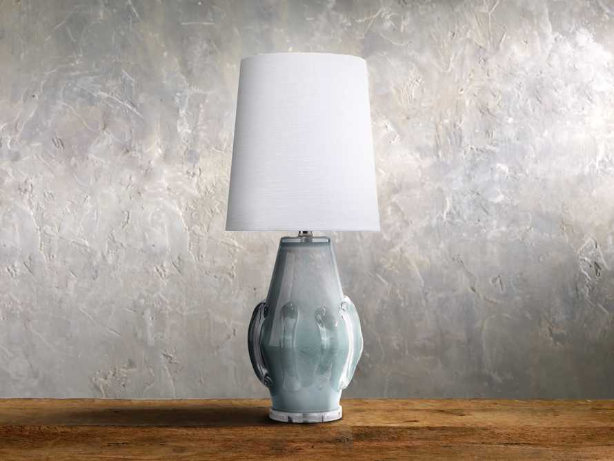 Sopheary Glass Table Lamp in Blue, slide 1 of 1